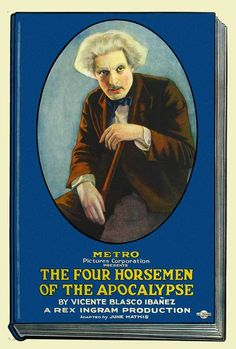 'Four Horsemen of the Apocalypse' Metro Pictures poster for the film (1921)