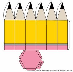 Карандаш из бумаги шаблоны Diy Gift Box, Diy Box, Diy Gifts, Diy Arts And Crafts, Paper Crafts, Diy For Kids, Crafts For Kids, Paper Box Template, Teachers' Day
