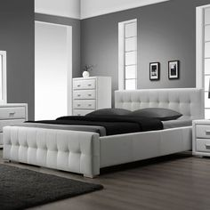 I pinned this Riviera Bed from the Bold Black, Bright White event at Joss and Main!