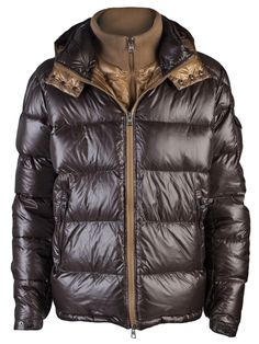 Cheap Moncler Jacket Moncler 2013 New Mens Zin Quilted Down Jacket Chocolate