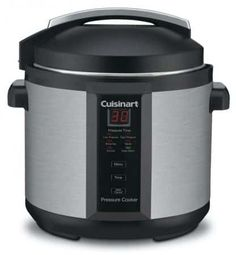The Cuisinart Pressure Cooker Model: is a Cuisinart classic! Our brushed stainless pressure cooker is safe, easy to use, cooks up to faster than conventional methods and cooks healthier, too. The Cuisinart Pressure Cooker is an excellent buy Digital Pressure Cooker, Best Pressure Cooker, Pressure Cooker Recipes, Pressure Cooking, Cuisinart Electric Pressure Cooker, Electric Pressure Cooker Reviews, Electric Cookers, Specialty Appliances, Small Appliances