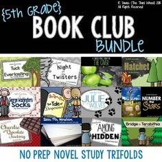 Build strong readers who think critically and interpret text using trifolds with this 5th Grade Novel Study Trifold Bundle ($)