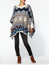 Sweater | Piperlime. Fun big printed sweater with skinnies or leggings and boots.