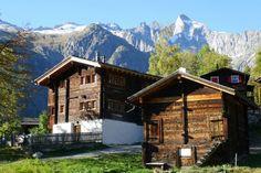Bellwald Switzerland . 500 jährige Alpstadel