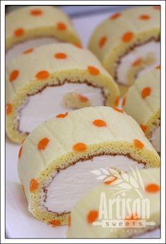 Polka Dot Roll Sponge Cake