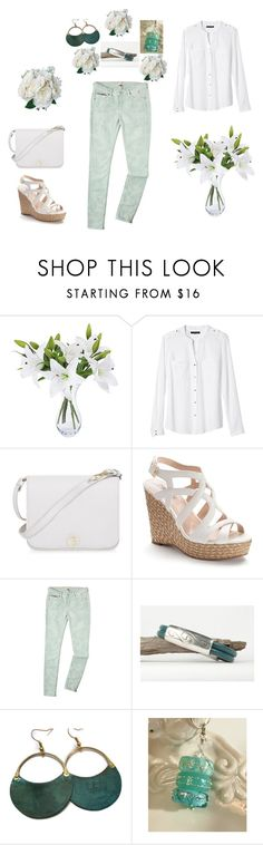 """Fashion"" by keepsakedesignbycmm ❤ liked on Polyvore featuring Banana Republic, Furla, Jennifer Lopez, Tommy Hilfiger, jewelry, accessories and gifts"