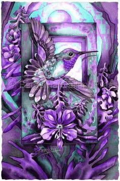 by Jody Bergsma Hummingbird Pictures, Hummingbird Art, Pics Art, Animal Paintings, Beautiful Birds, Decoupage, Painting & Drawing, Collages, Watercolor Art
