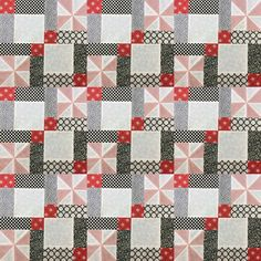 Video tutorial: disappearing 9 patch with pinwheels block                                                                                                                                                      More