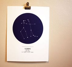 Astrological Print - something like this would be fun for my niece's space room makeover (cc: @Dawn Cameron-Hollyer Driscoll)