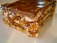 CRUNCHERS - One of the most repinned recipes on Pinterest - Uses Club Crackers, Butterscotch Morsels, Butter, Graham Cracker Crumbs, Brown Sugar, Creamy Peanut butter, Chocolate Morsels