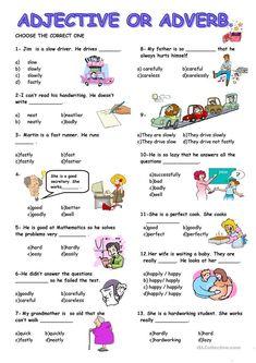 ADJECTIVE or ADVERB worksheet - Free ESL printable worksheets made by teachers