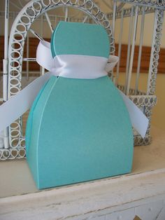 Wedding Favor --Customizable Dress Box - Many Colors Available Including TIFFANY BLUE, Hot Pink and  Lavender. $1.75, via Etsy.