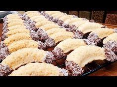 Kókuszos kiflik karácsonyi , ünnepi aprósütemény @Szoky konyhája - YouTube Krispie Treats, Rice Krispies, Desserts, Recipes, Food, Cookies, Tailgate Desserts, Deserts, Biscuits