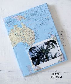 Document all of your trips in your own map-covered travel journal.