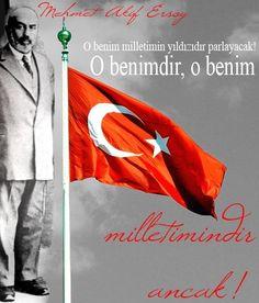 Bugün İstiklal Marşı'mızın Kabulünün 94. Yılı - Edebiyat Haber Portalı Maybe Tomorrow, The Turk, Great Leaders, Flag, Teaching, Education, Warriors, Pictures, Proud Of You