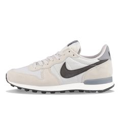 reputable site 4b2db 4c3dd Nike WMNS Internationalist Light Bone  Black  Cool Grey - Nike The Nike  Internationalist in light bone and grey has mesh, suede and leather uppers,  ...
