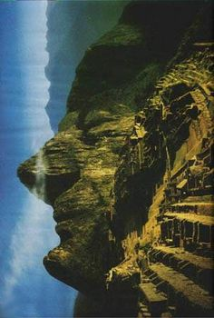Take a look at this amazing Machu Picchu Illusion illusion. Browse and enjoy our huge collection of optical illusions and mind-bending images and videos. Machu Picchu, Ancient Aliens, Formations Rocheuses, Mysterious Places, The Face, Ancient Mysteries, Optical Illusions, Planet Earth, Amazing Nature