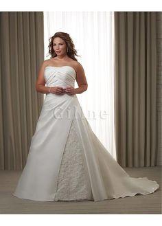 Robe de mariée taille magnifique lache en satin de bustier