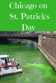 Last year we went to Chicago for St. It is a great destination for the parade, Guinness, Beer for Breakfast, and partying all day. They dye the river green too! Read here for my tips and recommendations for Chicago on St. Visit Chicago, Chicago Trip, Chicago Things To Do, Ugly Americans, St Patrick's Day Outfit, St Patricks Day Food, Chicago River, Us Travel Destinations, St Pattys