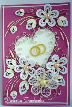 Quilling Paper Quilling Flowers, Quilling Work, Paper Quilling Patterns, Quilling Paper Craft, Quilling Designs, Paper Crafts, Quilling Videos, Quilling Techniques, 3d Cards