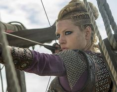 """12 Facts You Probably Didn't Know About The Show """"Vikings"""". It's A LOT more epic than horned-helmets. Actor Katheryn Winnick, who plays Lagertha, is a skilled martial artist. Vikings Season 4, Vikings Show, Vikings Tv Series, Katheryn Winnick Vikings, Viking Warrior, Viking Woman, Viking Life, Woman Warrior, Viking Art"""