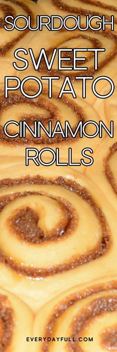 SOURDOUGH SWEET POTATO CINNAMON ROLLS - These will be your new treat for holidays, special occasions, birthdays and more! The surprising addition of sweet potato makes these sourdough cinnamon rolls soft, fluffy and perfectly sweet. Sourdough Cinnamon Rolls, Sourdough Recipes, Amish Recipes, Baking Recipes, Real Food Recipes, Sourdough Bread, Bread Recipes, Yeast Bread, Bread Baking