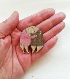 Hugging Bears Brooch by ruthybopshop on Etsy