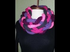 Double Layered Braided Cowl - Left Handed Crochet Tutorial 1 - YouTube