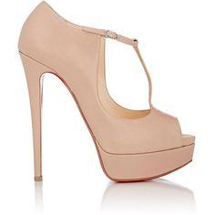replica dress shoes for men - Christian Louboutin Colibretta Multi-Strap Red Sole Pump ($895 ...