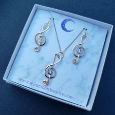 Music Teacher Gifts, Music Gifts, Music Teachers, Moon Jewelry, Copper Jewelry, Copper Wire, Jewelry Gifts, Jewelry Box, Any Music