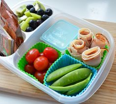 Adult Lunch packed in EasyLunchboxes. From Lynn of http://savorytart.blogspot.com/