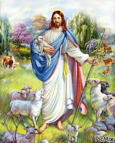 Jesus the Good Shepherd by Peter Bianchi Jesus Shepherd, Christ The Good Shepherd, Lord Is My Shepherd, Jesus Is Risen, Jesus Is Lord, Jesus Loves, Pictures Of Jesus Christ, Padre Celestial, In Christ Alone