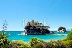 Torlesse Rock, Kaiteriteri, Tasman Region, New Zealand Royalty Free Stock Photo New Zealand Beach, New Zealand Travel, Pool Dance, Abel Tasman National Park, New Zealand Landscape, Seaside Towns, Travel And Tourism, Beach Fun, Beautiful Beaches