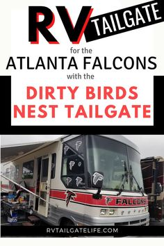 Take a look at the uber-Falcons fan RV tailgate - the Dirty Birds Nest RV Tailgate and see how they tricked out their tailgate in everything Atlanta Falcons Travel Hack, Rv Travel, Travel Info, Travel Advice, Travel Tips, Atlanta Falcons, Atlanta Georgia, Falcons Gear, Sports Mom