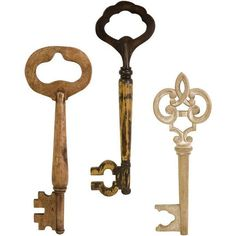 Walter Wooden Wall Keys - Set of 3 (320 PLN) ❤ liked on Polyvore featuring home, home decor, fillers, backgrounds, keys, accessories, decor, embellishments, details and text