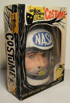 NASA Astronaut Halloween Costume [From the collection of Christian Montone] He looks strangely doomed inside that package, particularly with that spooky little owl peering down at him. Boxing Halloween Costume, Creative Halloween Costumes, Halloween Night, Halloween Masks, Halloween Outfits, Holidays Halloween, Happy Halloween, Halloween Decorations, Halloween Ideas