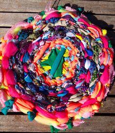 Awesome hula hoop weaving