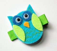 Colorful owl hair clip for little girls