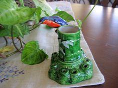 Made in Japan Vintage Bird Flower Frog   Circa 1940