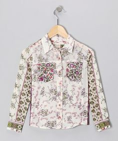 Take a look at this Purple Floral Button-Up Shirt - Toddler & Girls by Blow-Out on #zulily #fall today!