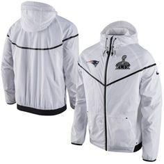 Men s Nike White New England Patriots Super Bowl XLIX Champions Tech  Windrunner Sideline Full Zip Jacket 6f611161a