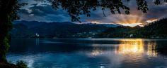 Sunset on Bled by Green  Lemon            35mm panorama. Sigma art.            Green  Lemon: Photos                                 #nature #photography