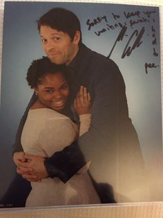 Sarah @cablebox_: i got to the front of the line he had a break my mom called he came back awkwardness. thank u @mishacollins #houscon