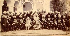 The Maharaja of Kapurthala and his state officials