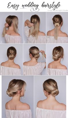 Beautiful hairstyle for a wedding <3
