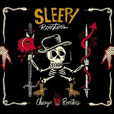 SLEEPY ROOSTERS - Chicago Roosters (2017) http://www.woodyjagger.com/2017/09/sleepy-roosters-chicago-roosters-2017.html