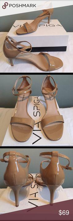 🎈NIB Via Spiga🎈 NIB Via Spiga Leesa nude patent leather.  Heel is 2.75!inches.  Thanks for looking! Via Spiga Shoes Heels