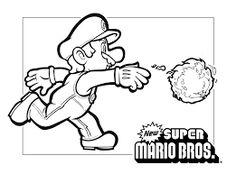 super mario bros coloring pages | 101_super_mario_coloring_at ... - Super Mario Luigi Coloring Pages