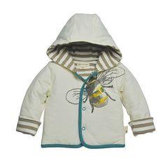 Burt's Bees Baby Boy Reversible Hooded Jacket ~ Beige, Brown & Teal~3-6 Months ~ #BurtsBeesBaby #Jacket #BabyBoy