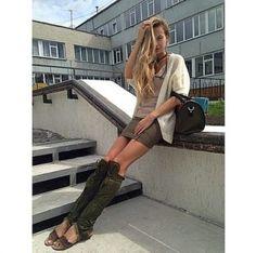 "Julia wearing Annushka shoes. Model ""Vietnam""."
